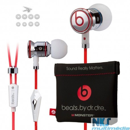 GENUINE Monster Beats by Dr Dre iBeats In Ear Headphones Earphones Headset White