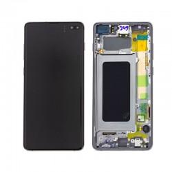 LCD + vitre tactile Samsung S10 PLUS G975 NOIR ( ORIGINE SERVICE PACK )