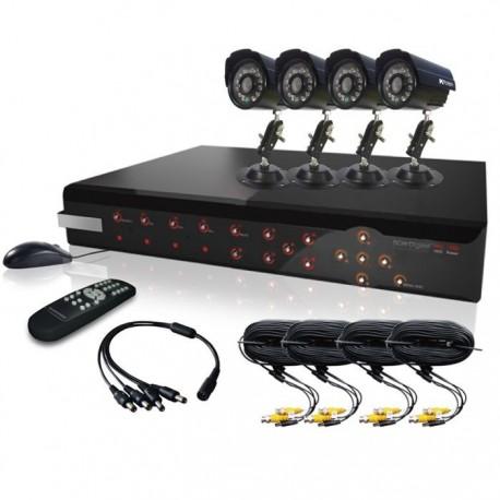 Pack 4 caméras de surveillance filaire avec enregistreur