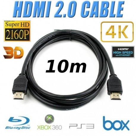 CABLE HDMI 2.0 10m 3D 4K UltraHD 2060p